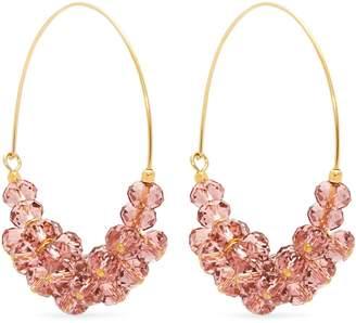 Isabel Marant Rosewood bead-embellished hoop earrings