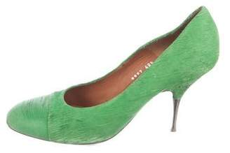 Dries Van Noten Textured High-Heel Pumps
