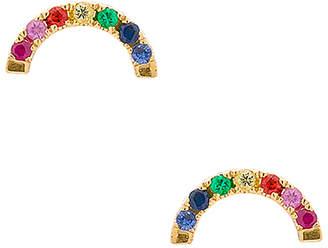 Ef Collection Diamond Rainbow Stud Earrings
