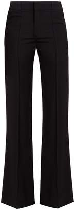 Chloé Flared-leg wool-crepe trousers