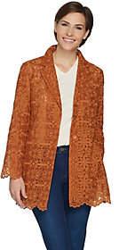 GRAVER Susan Graver Woven Embroidered Jacket