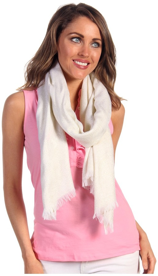 Lilly Pulitzer Murfee Wrap Jacquard (Resort White Chin Chin) - Accessories