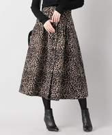iena-追加-la-boucle-ジャガードレオパード前開きスカート