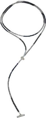 """Dripping In Gems Silver & Blue Hematite Lariat Beads """"Diane Dash"""""""