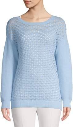 Jones New York Long-Sleeve Stitchy Drop-Shoulder Sweater