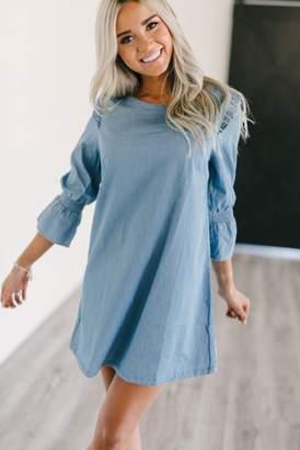 Camille Denim Ruffle Dress