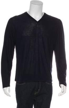 Lanvin Long Sleeve V-Neck Sweater