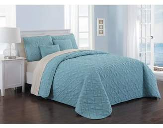 Avondale Manor Del Ray 9pc Quilt Set - Queen - Blue/Taupe