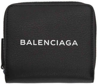 Balenciaga (バレンシアガ) - Balenciaga ブラック バルチモア ロゴ ビルフォールド ウォレット