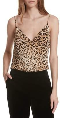 Frame Cheetah Print Silk Camisole