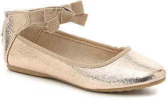 Kenneth Cole New York Rose Bow Toddler & Youth Ballet Flat - Girl's