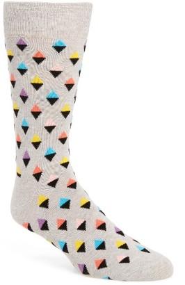 Men's Happy Socks Mini Diamond Cotton Blend Socks $12 thestylecure.com
