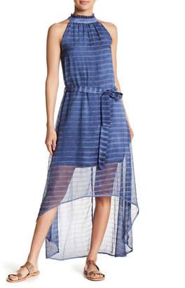 Fate Striped Sleeveless Hi-Lo Dress