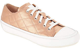 Vionic Orthotic Quilted Lace- up Sneakers -Edie