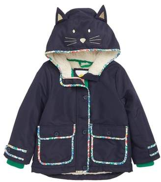 Boden Mini Faux Shearling Lined Hooded Jacket