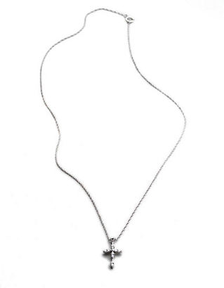 Lord & Taylor 14K White Gold Cross Necklace $780 thestylecure.com