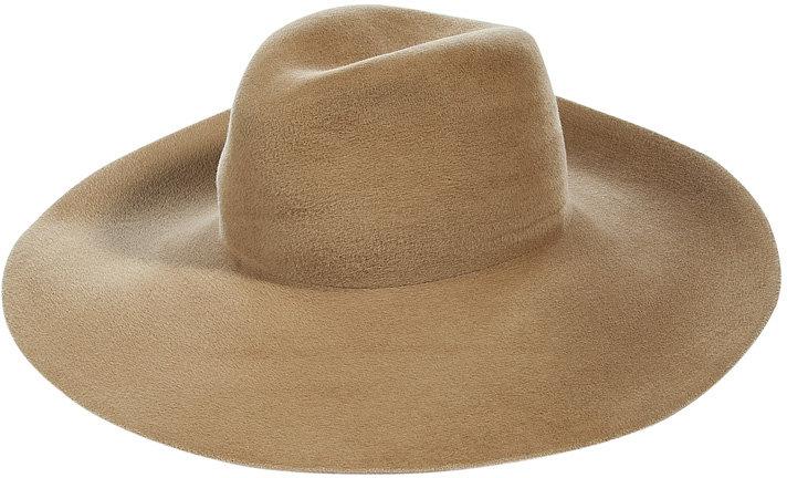 Vanessa Bruno Khaki Rabbit Fur Hat