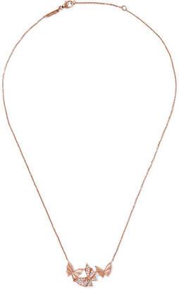 Stephen Webster Fly By Night 18-karat Rose Gold Diamond Necklace - one size