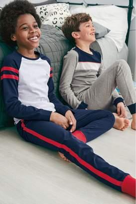 Next Boys Red/Navy Colourblock Pyjamas Two Pack (3-16yrs) - Red