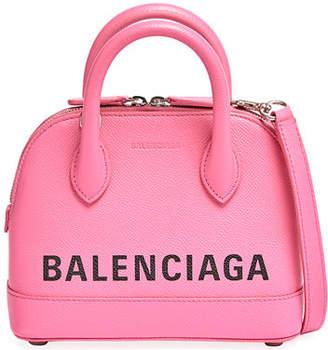 Balenciaga Ville Small AJ Calfskin Top-Handle Bag