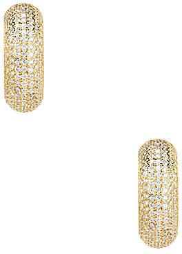 joolz by Martha Calvo Mod Pave Huggie Earrings