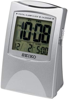 Seiko Get Up & Glow Digital Travel Bedside Alarm Clock - QHL005SLH