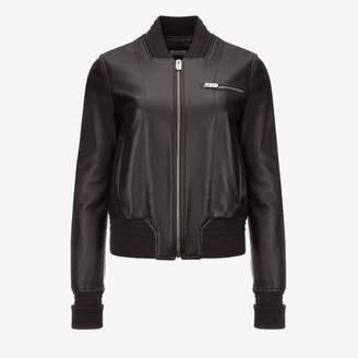 Bally Leather Bomber Jacket Black, Women's lamb leather jacket in black