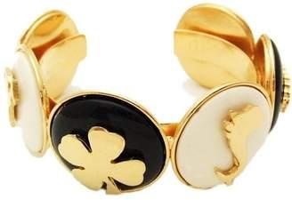 Chanel Gold Tone Metal Cuff Bangle Bracelet