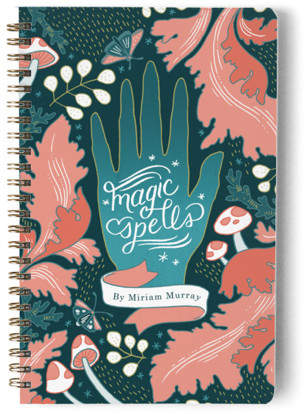 Mystic Magic Spellbook Day Planner, Notebook, or Address Book