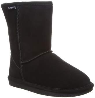 BearPaw Emma Short Suede Genuine Sheepskin Footbed Boot