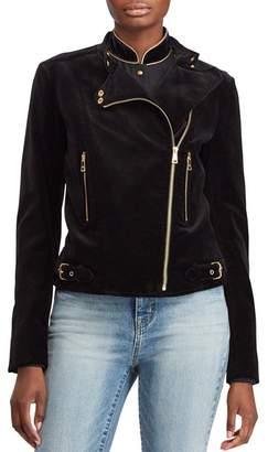 Ralph Lauren Velvet Moto Jacket