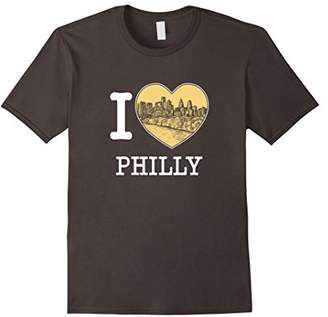 I Love Philadelphia Pennsylvania Philly Skyline T Shirt