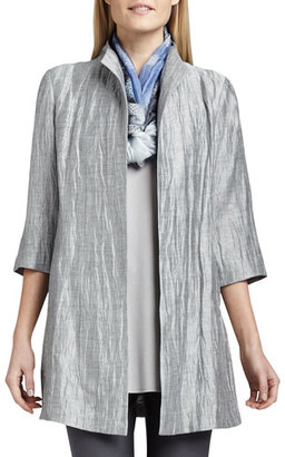 Eileen Fisher Washable Crinkle Sheen Jacket $318 thestylecure.com