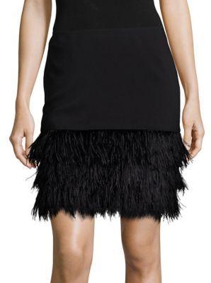 Polo Ralph Lauren Ponte Feather-Hem Skirt $398 thestylecure.com