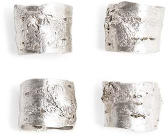 ABC Home Birch Bark Napkin Rings - Set of 4