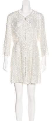 Theyskens' Theory Embellished Silk Dress