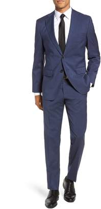 BOSS Johnstons/Lenon Classic Fit Houndstooth Wool Suit