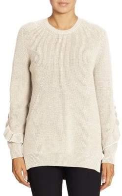 N°21 Ruffled Wool Sweater