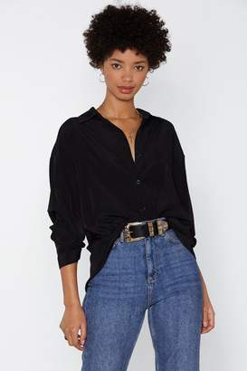 Nasty Gal Throw on Your Big Girl Relaxed Shirt