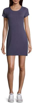 Arizona Short Sleeve Stripe Bodycon Dress-Juniors