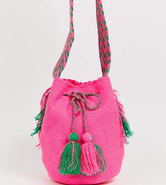 Jardin Del Cielo Wayuu Mochilla Bag In Orange