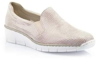 Remonte Rieker & Doris Metallic Slip-On Wedge Sneaker