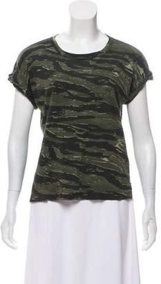 Current/Elliott Camouflage Print T-Shirt