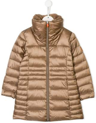 BEIGE Save The Duck Kids long length padded coat