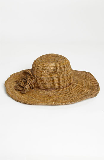 Flora Bella Crochet Raffia Hat