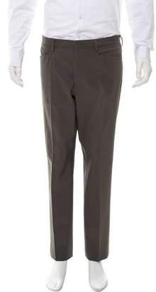 Prada Cropped Flat Front Dress Pants