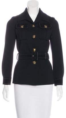 Gucci Wool Suede-Trimmed Jacket