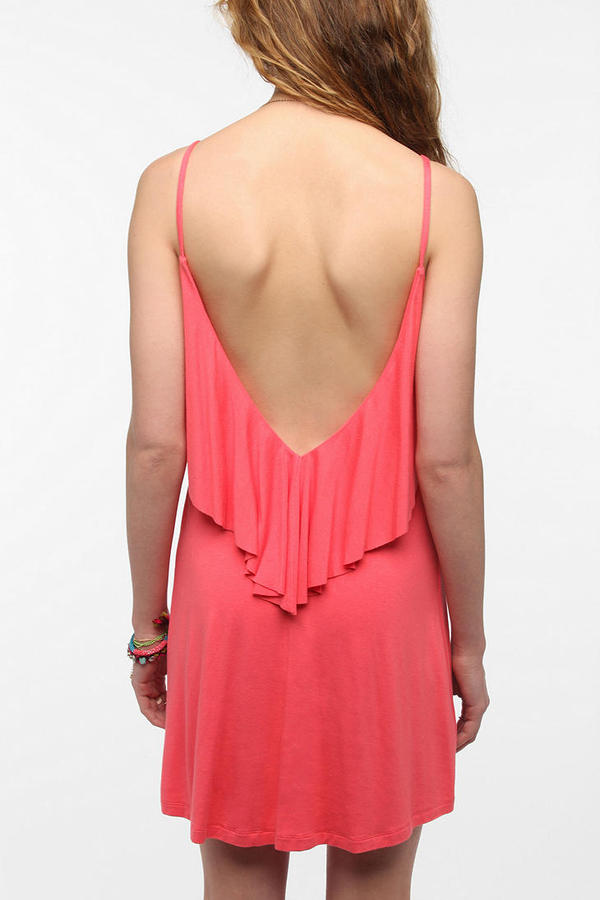 Urban Outfitters Pins And Needles Knit Ruffle Top Dress