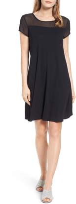 Vince Camuto Sheer Yoke Shift Dress