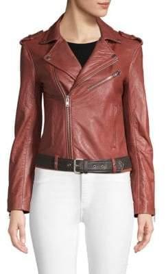 Maje Moto Leather Jacket